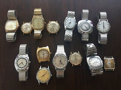 Vintage Timex Lot of 14 Watches for Parts/Repair