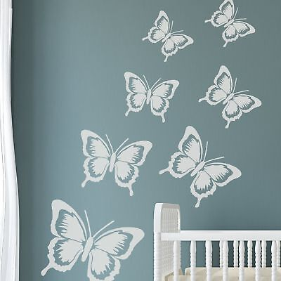 SOPHIE BUTTERFLY Furniture Wall Stencil for Painting