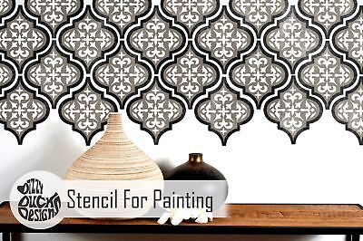 TEMARA 3-LAYER Tile Furniture Wall Floor Stencil for Painting