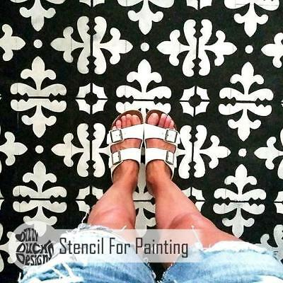 FLORENCE Tile Furniture Wall Floor Stencil for Painting