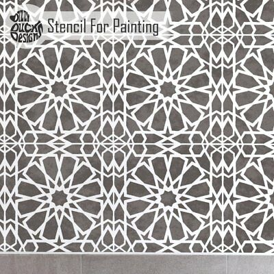 ZAGORA Tile Furniture Wall Floor Stencil for Painting