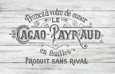 CACAO PAYRAUD Furniture Wall Floor Stencil for Painting