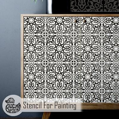 NADIA Tile Furniture Wall Floor Stencil for Painting