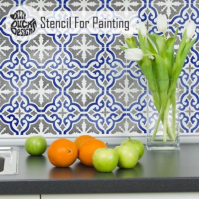 SEVILLE Tile Furniture Wall Floor Stencil for Painting