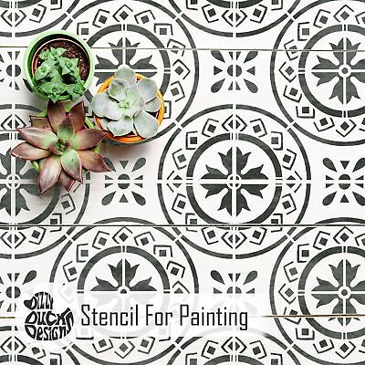 MORELLO Tile Furniture Wall Floor Stencil for Painting