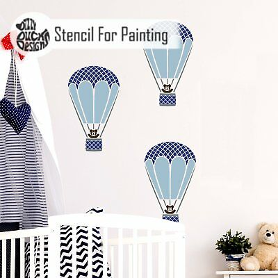 HARLEQUIN HOT AIR BALLOON Furniture Wall Floor Stencil for Painting