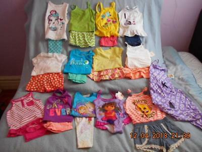 25 Pc Mixed Lot Girls Size 4-4T Used Summer Clothing (8 are nwt)