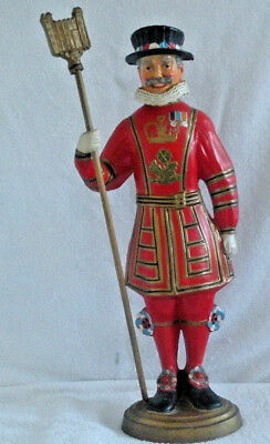 Rare BEEFEATER GIN Back Bar Display Statue Composition Vintage