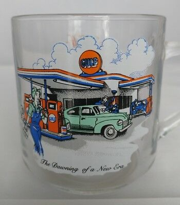 Gulf Gas Oil Collector Series Glass The Dawning of a New Era Limited Edition Mug