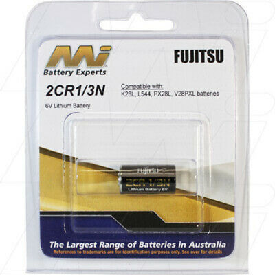 Fujitsu Photo Lithium Manganese Dioxide Battery replaces K28L, L544,PX28L,V28PXL