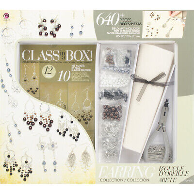 Jewelry Basics Class In A Box Kit-Silver Tone Earrings