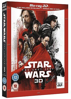 Star Wars THE LAST JEDI 3D + 2D Blu-Ray with slipcover BRAND NEW Free Ship