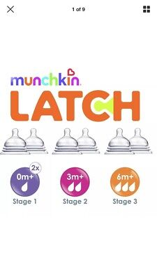 **cheapest on ebay**Munchkin Latch Stage 3 Teats (Pack of 2)