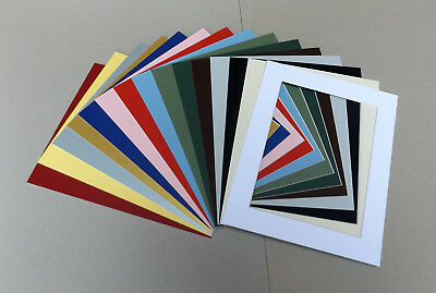 Cardboard PICTURE MOUNTS to fit A4 Picture Frame Lots of colours & cut out sizes