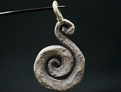 Ancient Viking Silver Amulet depicting Serpent / Snake Creature, c 950-1000 Ad.