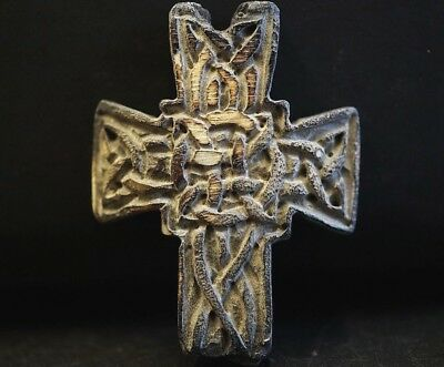 Ancient Viking HØRN Cross. Stunning Amulet with Norse Eternity Knot, 950-1000 Ad
