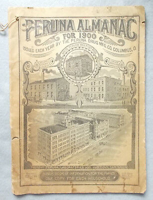 Antique PERUNA ALMANAC FOR 1900 Pharmaceutical Cures for Catarrh COLUMBIS OHIO