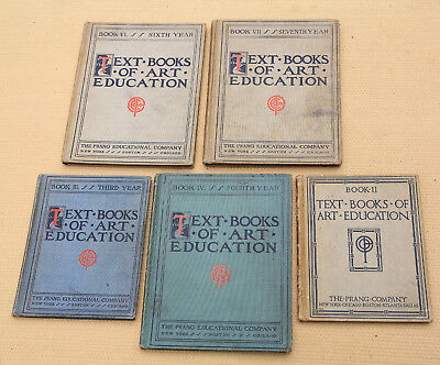 """Lot of 5: Early 1900's """"Text Books of Art Education""""--nicely illustrated"""