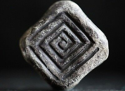 Ancient Viking Silver Amulet. Bead Pendant of Norse Necklace, circa 950-1000 Ad