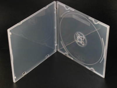 25 Poly Case CD DVD BluRay Storage Media Boxes music 2 disc hub durable box NEW