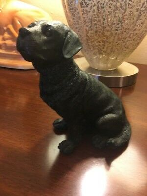 Black Lab Dog Figure