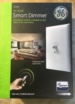GE 12729 Z-Wave In-Wall CFL-LED Smart Dimmer Switch New Free Ship!