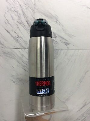 Thermos 24oz Stainless Steel Double Wall Vacuum Insulated Hydration Bottle New