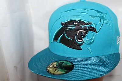 CAROLINA PANTHERS NFL Official Sideline New Era 59Fifty Blue Fitted ... 37c0382896be