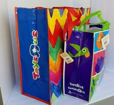 Toys R Us Rainbow Design Reusable Shopping Tote Gift Bags TRU