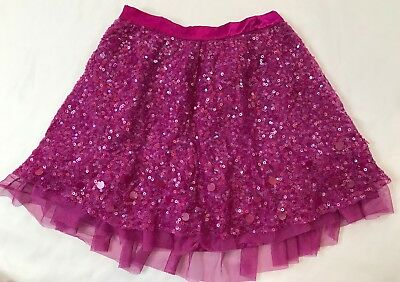 Gap Kids Girls Size 10 Years (Large) Purple Magenta Sequin Lined Tulle Skirt