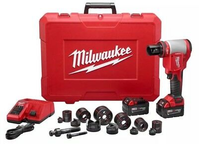 "Milwaukee 2676-22 M18 Cordless 1/2""-2"" Force Logic 10 ton Knockout Tool Kit NEW"
