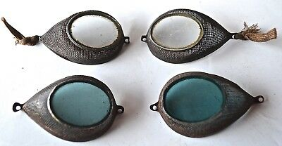 2 pair Antique Steampunk Biker Motorcycle Aviator Goggle Sunglass Parts 1900s