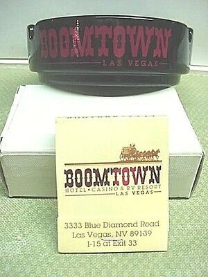BOOMTOWN CASINO Las Vegas Ashtray & Matchbook VINTAGE RARE