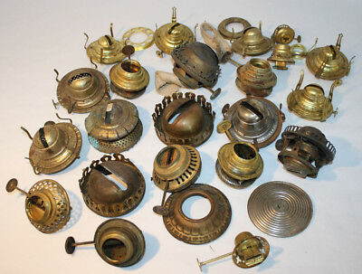 Lot of antique oil lamp burners and parts 4900 picclick lot of antique oil lamp burners and parts aloadofball Image collections