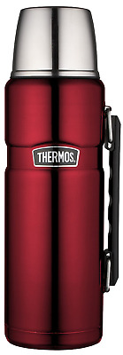 Thermos Stainless King 40 Ounce Beverage Bottle, Cranberry