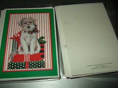 Vintage unused gordon fraser xmas greeting card by adrienne cute vintage adrienne gordon fraser terrier dog christmas cards 12 unused envelopes m4hsunfo