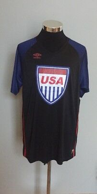0d4a8073f Umbro Mens USA Soccer Football Shirt Jersey Size XL Retro Blue Red White