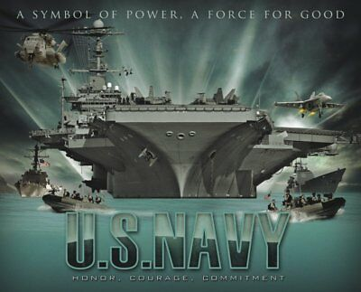 US Navy Honor Courage Commitment Mouse Pad