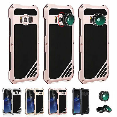 Shockproof Aluminum Metal Camera Lens Case Cover For Samsung Galaxy S9 S8 Plus