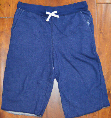 Boy's Old Navy Dark Blue French Terry Slip On Elastic Waist Shorts Sz XS, L, XL