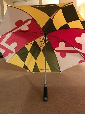 Maryland flag umbrella, 23.5 inch radius, route one apparel brand