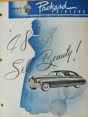 1948 Packard Pointers Sales Bulletin No. 6  FREE SHIPPING !