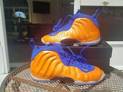 eeb07a41bf3 new zealand new nike little posite one foamposite knicks orange blue gs size  7y 644791 800