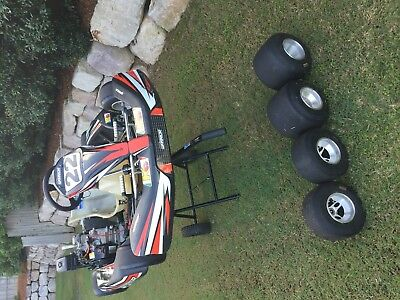Arrow Track Warrior Go Kart WITH Kart Trolley and Spare Set of Rims