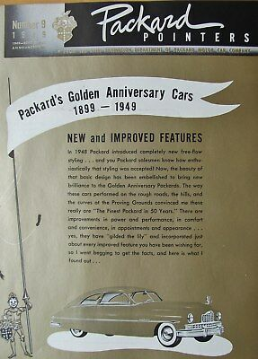 1949 Packard Pointers Sales Bulletin No. 9  FREE SHIPPING !