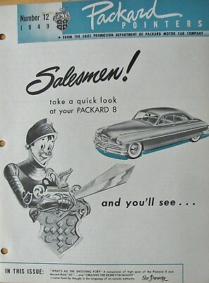 1949 Packard Pointers Sales Bulletin No. 12  FREE SHIPPING !