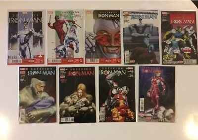 Complete Set Superior Iron Man #1 2 3 4 5 6 7 8 9 Marvel Comics (2015) VF