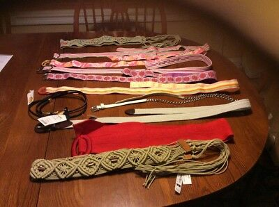 Belts! Belts Belts! NWT Women's Belts Medium To XL GAP, Talbots And Others
