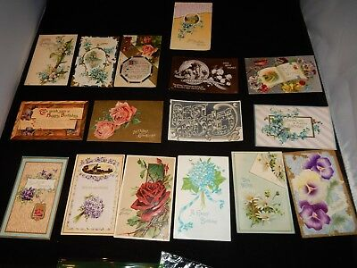 LARGE LOT Antique Vintage BIRTDAY Postcards Early 1900 RARE