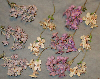 Vintage Millinary Flowers - From an Old Hat - Pink & Lavender Lilacs